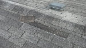 Typical Wind Damage to Shingles