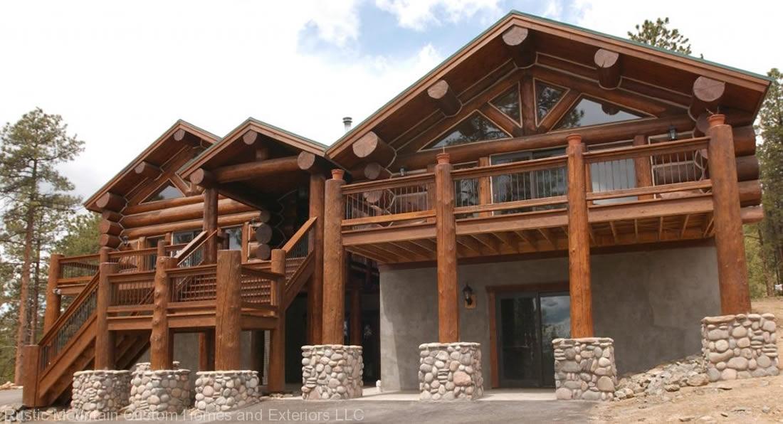 Prime Rustic Mountain Custom Homes Exteriors Llc Free Home Designs Photos  Ideas Pokmenpayus