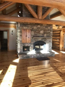 fireplace log truss custom design, Rustic Mountain